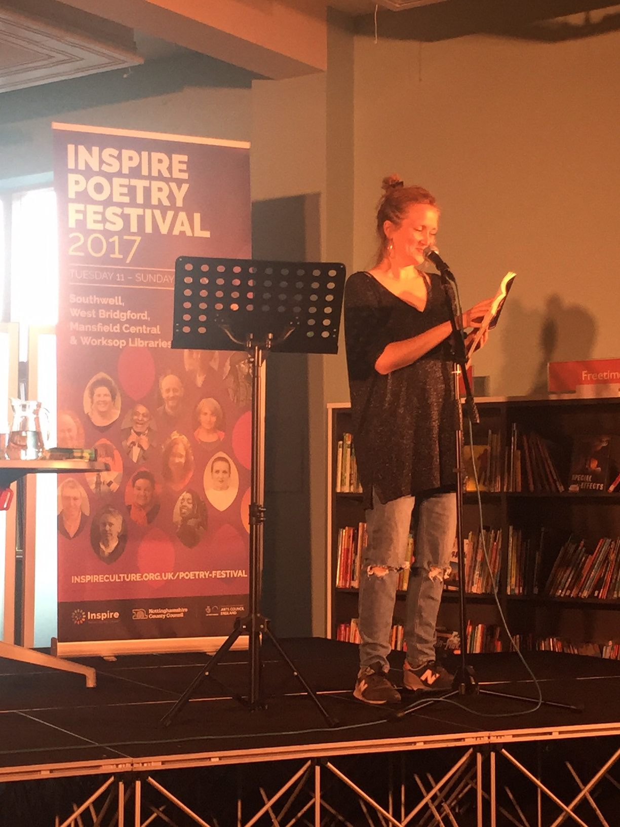Hollie McNish at West Bridgford Library
