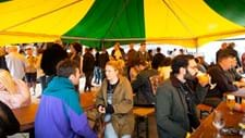 <p>With drinks in hand and people sat down, the festival was well and truly underway!</p>